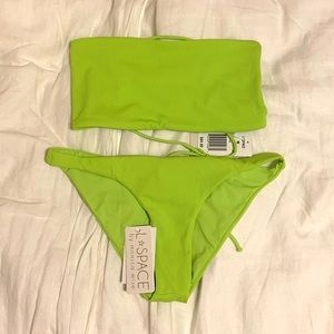 L Space strapless bikini set